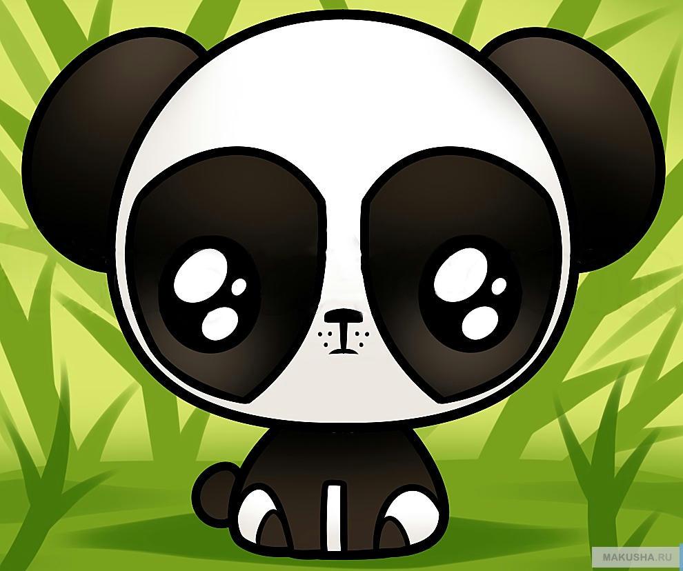 картинки для срисовки карандашом панды