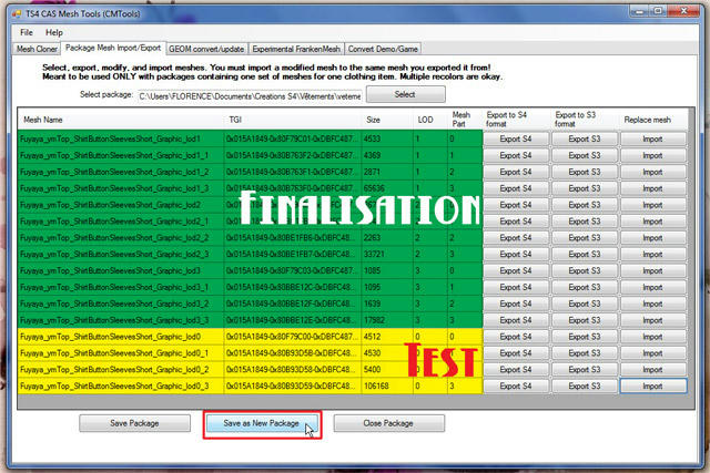 [Apprenti] TS4 Mesh Tools : Export et Import de fichier pour la modification de mesh Xun46dxivqv9qtszg