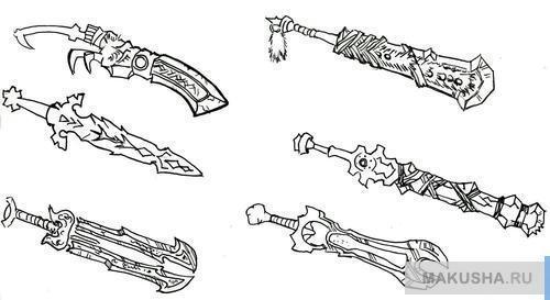Учим рисовать меч