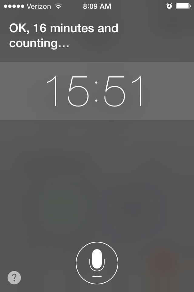 Siri Countdown
