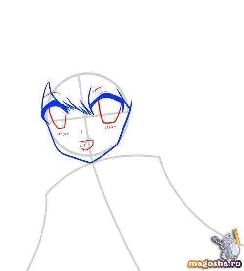 Рисуем поэтапно красивое аниме