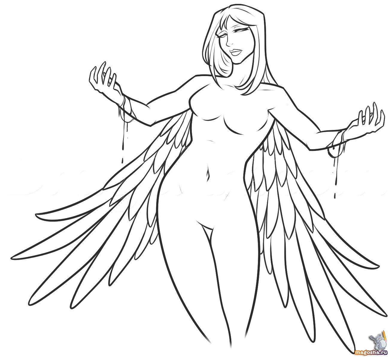 Нарисовать архангела поэтапно