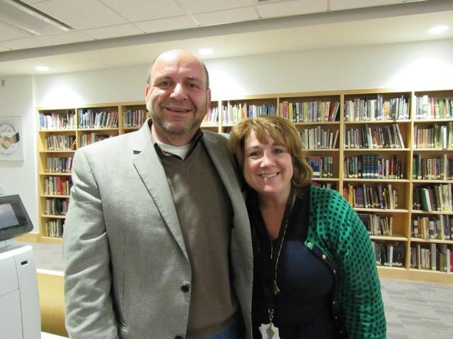 Marlin Collingwood with Winchester High School Principal, Chris Kelley