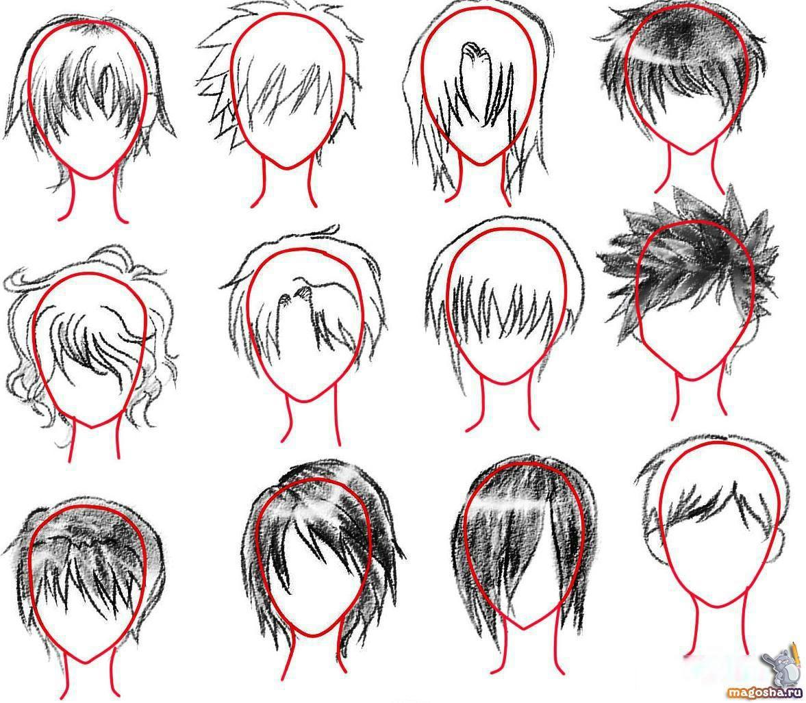 Аниме причёски мальчиков