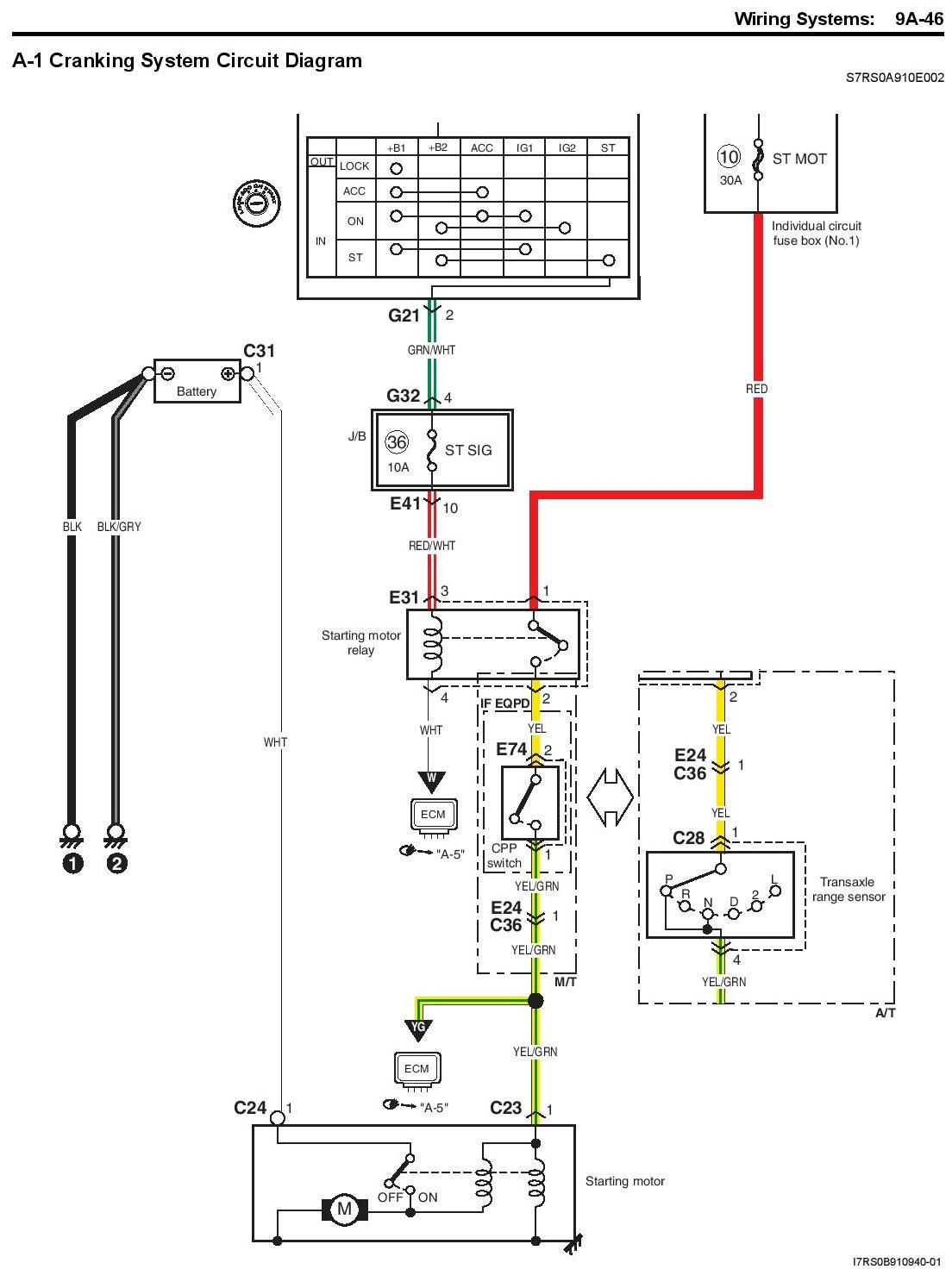 m15a 2009 engine wiring diagram  start engine out of car