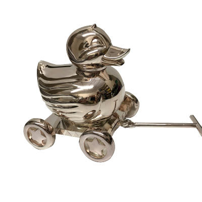 Silver Plated Duck Bank