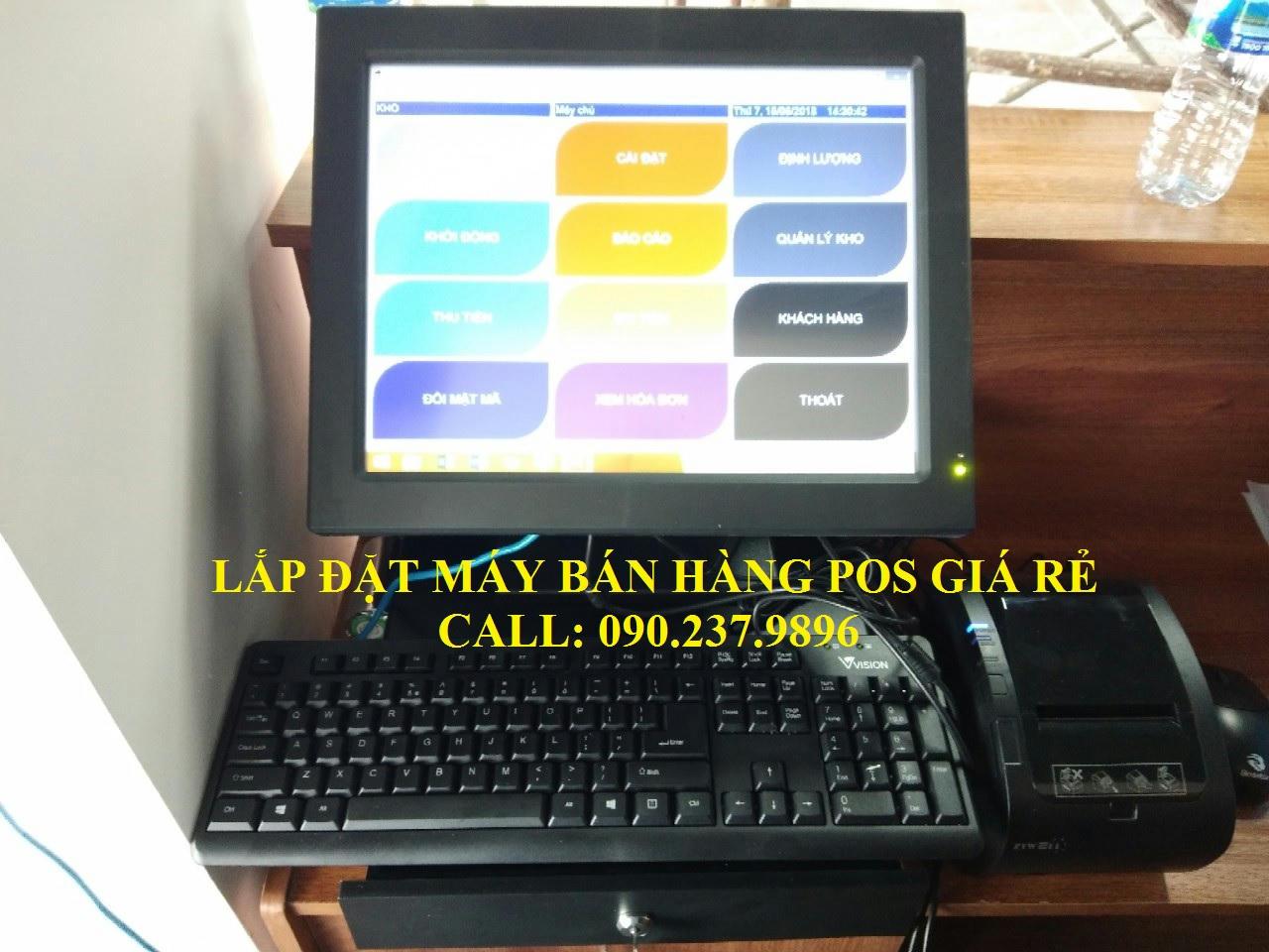 Lắp đặt máy bán hàng trọn bộ cho quán cafe tại Tiền Giang