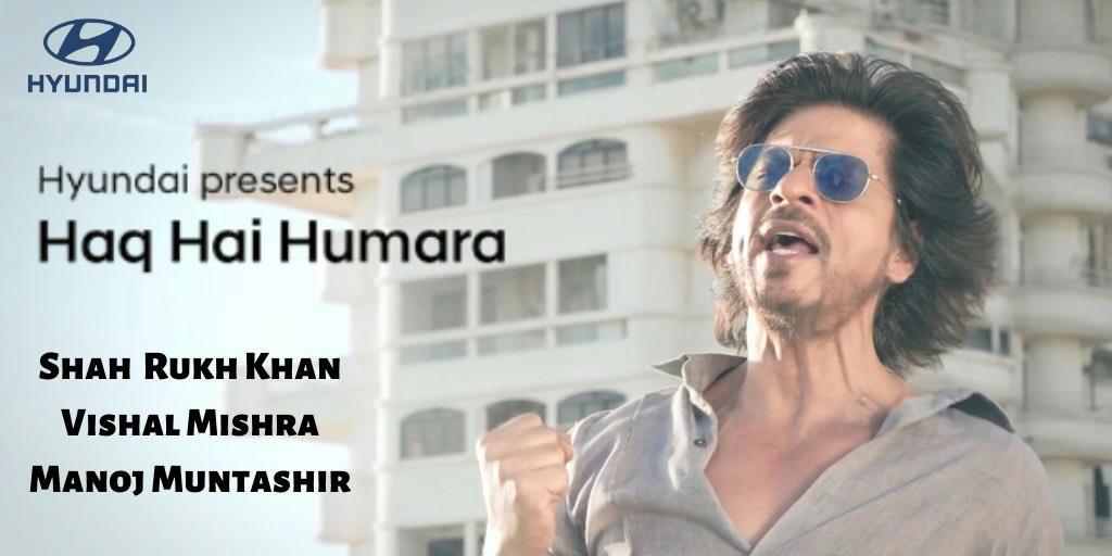 Haq Hai Humara Hyundai New Marathi Anthem Song Shah Rukh Khan