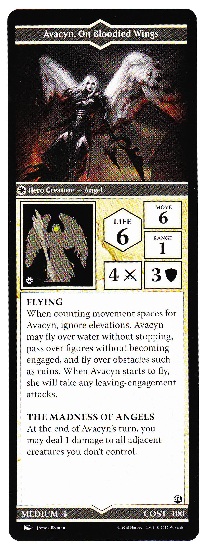 The Book of Avacyn, On Bloodied Wings - Heroscapers Planeswalker Arena Custom