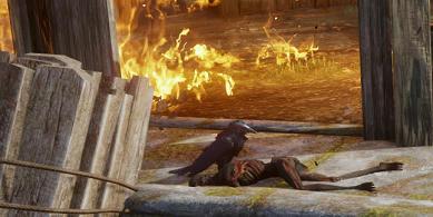 burnt corpse