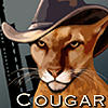 Cougar in hat icon