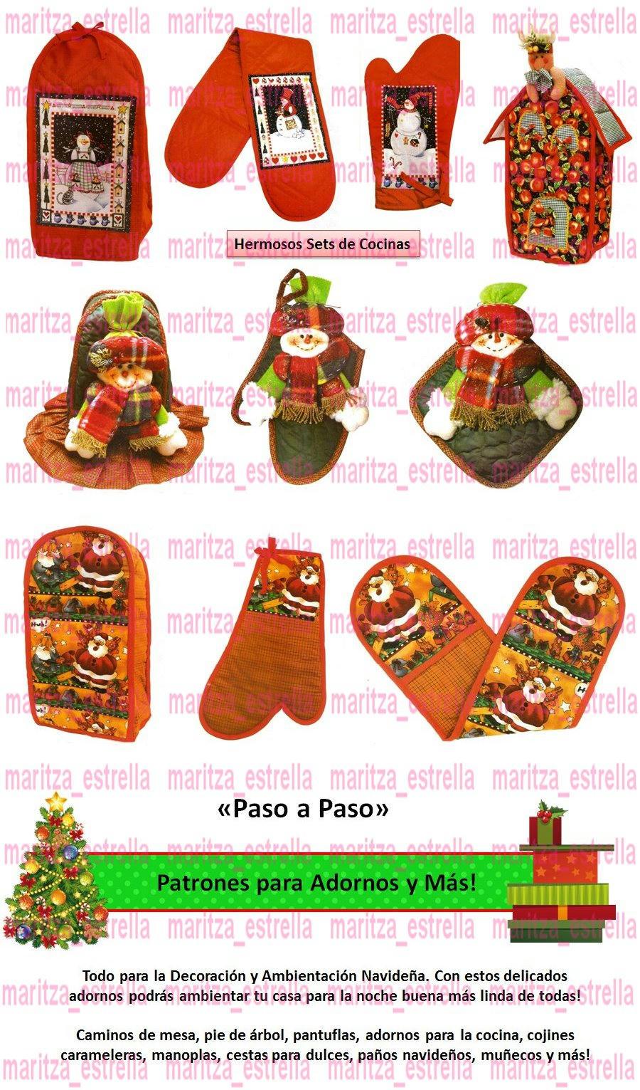 Lenceria De Baño Navidad:Kit Patrones Lenceria Navidad Juegos De Baños Muñecos Arbol BsF280