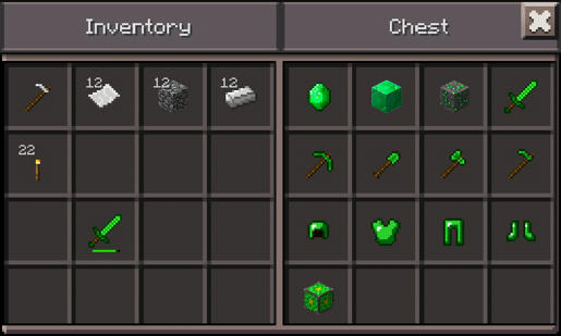 Emerald Ore Gems And Tools