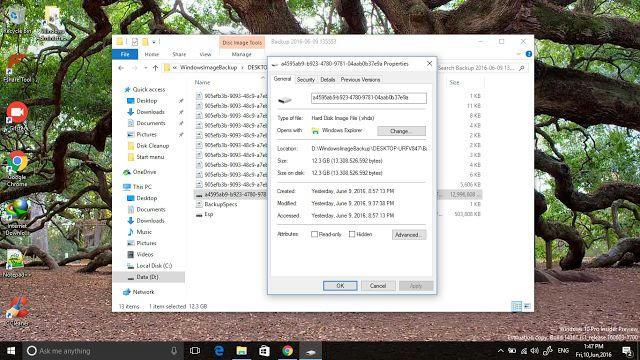 Cách sao lưu lại hệ điều hành trên Window 10 bằng System Image