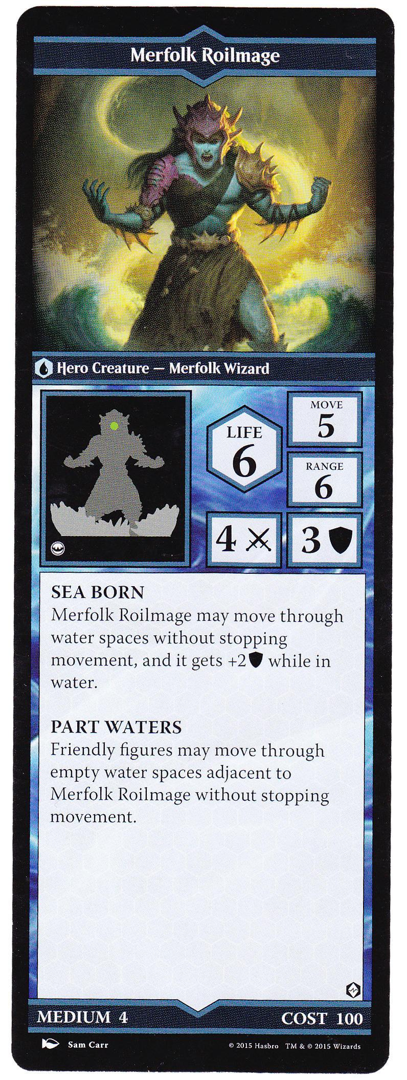 The Book of Merfolk Roilmage - Heroscapers Planeswalker Arena Custom