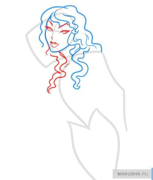 Рисуем поэтапно девушку гота