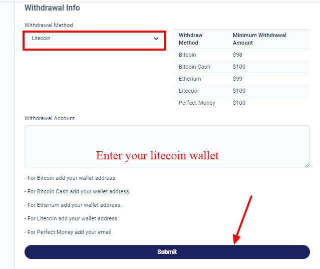 Earn free Litcion On Cryptoshrink
