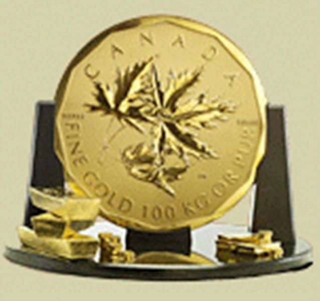 Roban del Museo Bode de Berlín la moneda de oro más grande del mundo, la Big Maple Leaf, con un peso de 100 kilos de oro puro al 99,999 %, un diámetro de 53 centímetros y tres centímetros de grosor