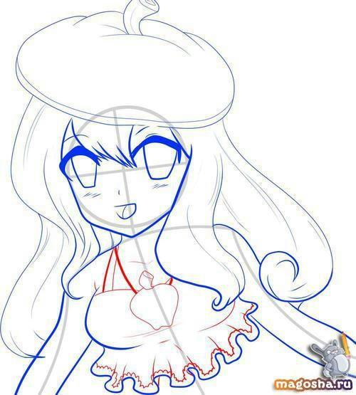 Рисуем по шагам красивое аниме