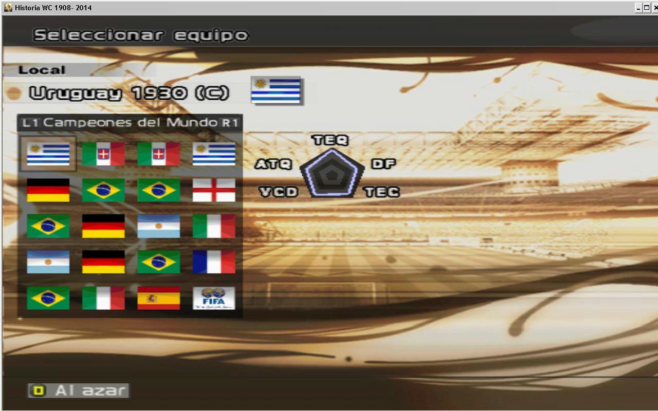 [Actualizacion WC 2014][PES6]Historia de los Mundiales 1908 - 2014 8j5uy7qyiu5j3u5fg