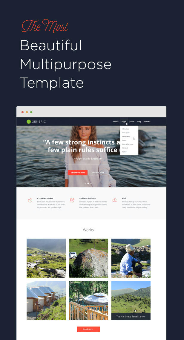 Generic — Multi-Purpose HTML5 Template