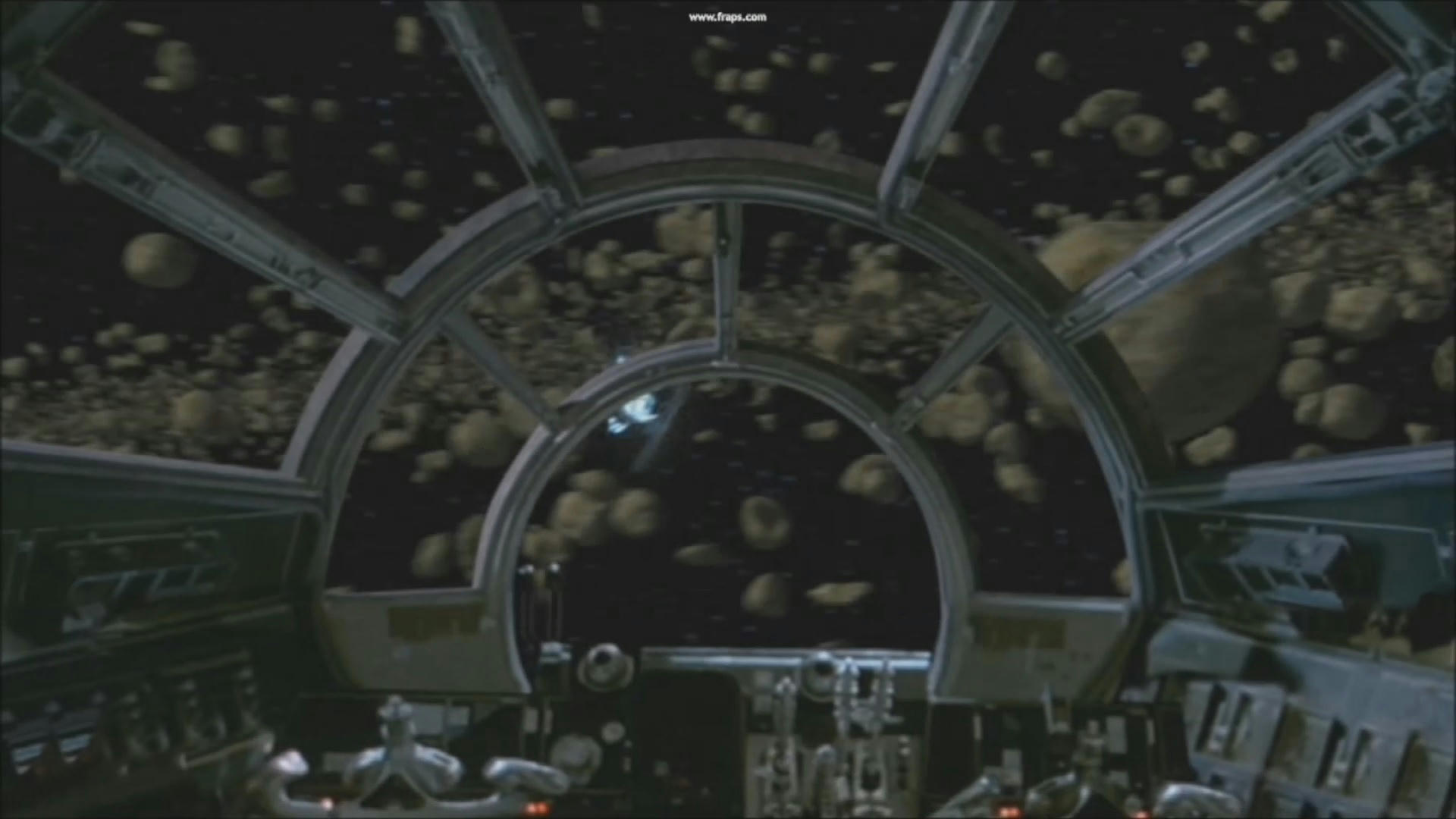 Displaying images for millenium falcon cockpit wallpaper - Now Weather This Is An Un Cropped Cockpit View It Is On 2004 Bonus Disc But I Think It Is A Slightly Different Angle To