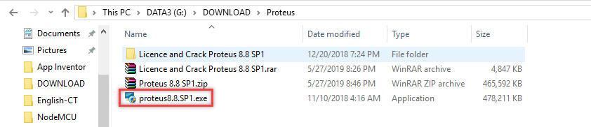 Thư mục chứa proteus 8.8