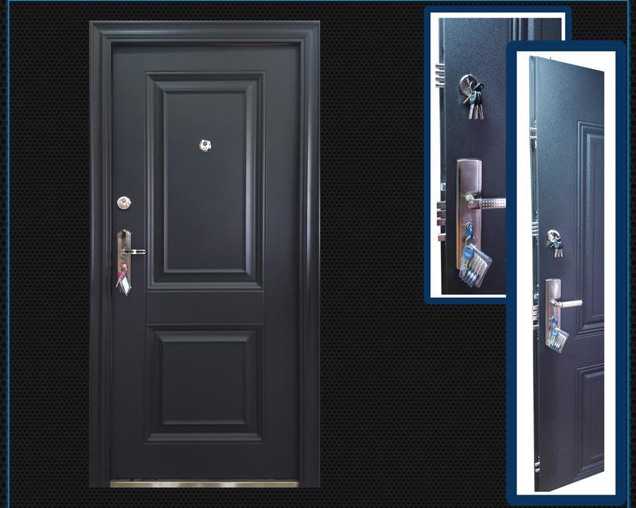 Puertas galvanizadas de seguridad semi blindadas 16 for Puertas galvanizadas