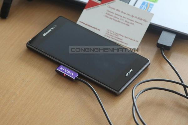 Cáp sạc từ nhôm chính hãng Magnetic DCU28 for Xperia Z2/ Z1 mini/Z1/Z ultra