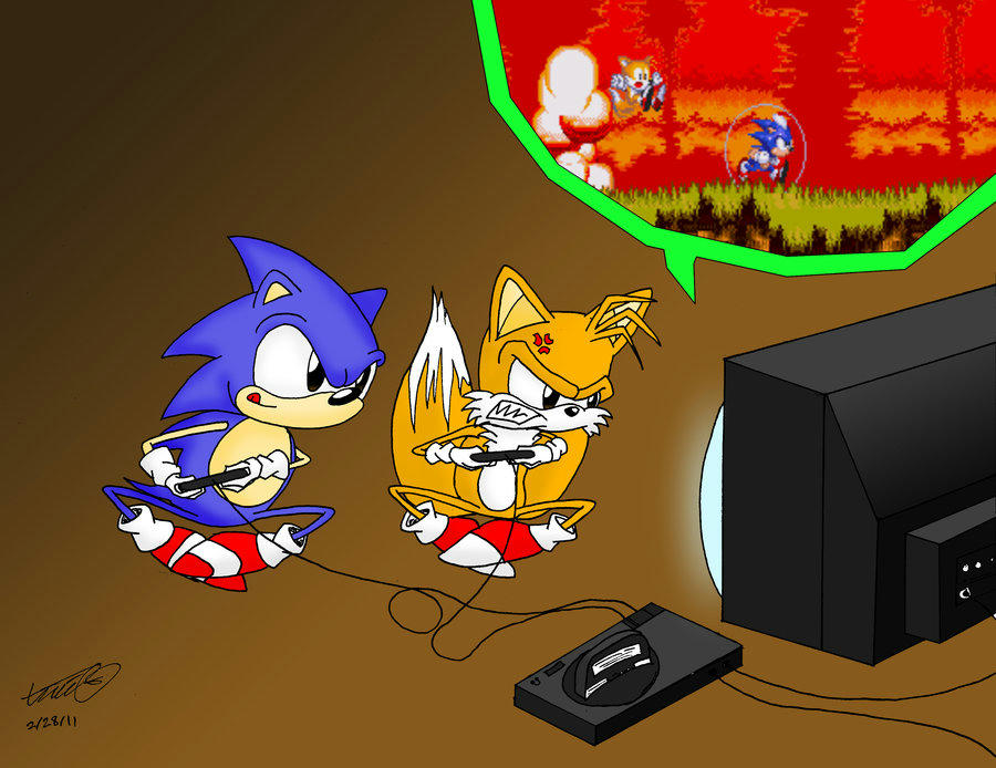 Sonic and Tails Playing Sonic3