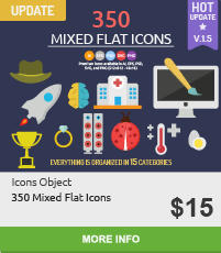 50 Flat Concept Icons