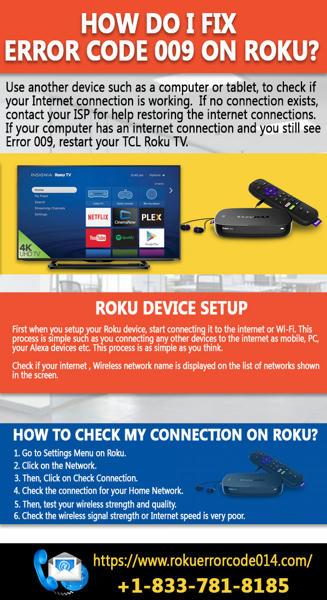How do I fix error code 009 on Roku?