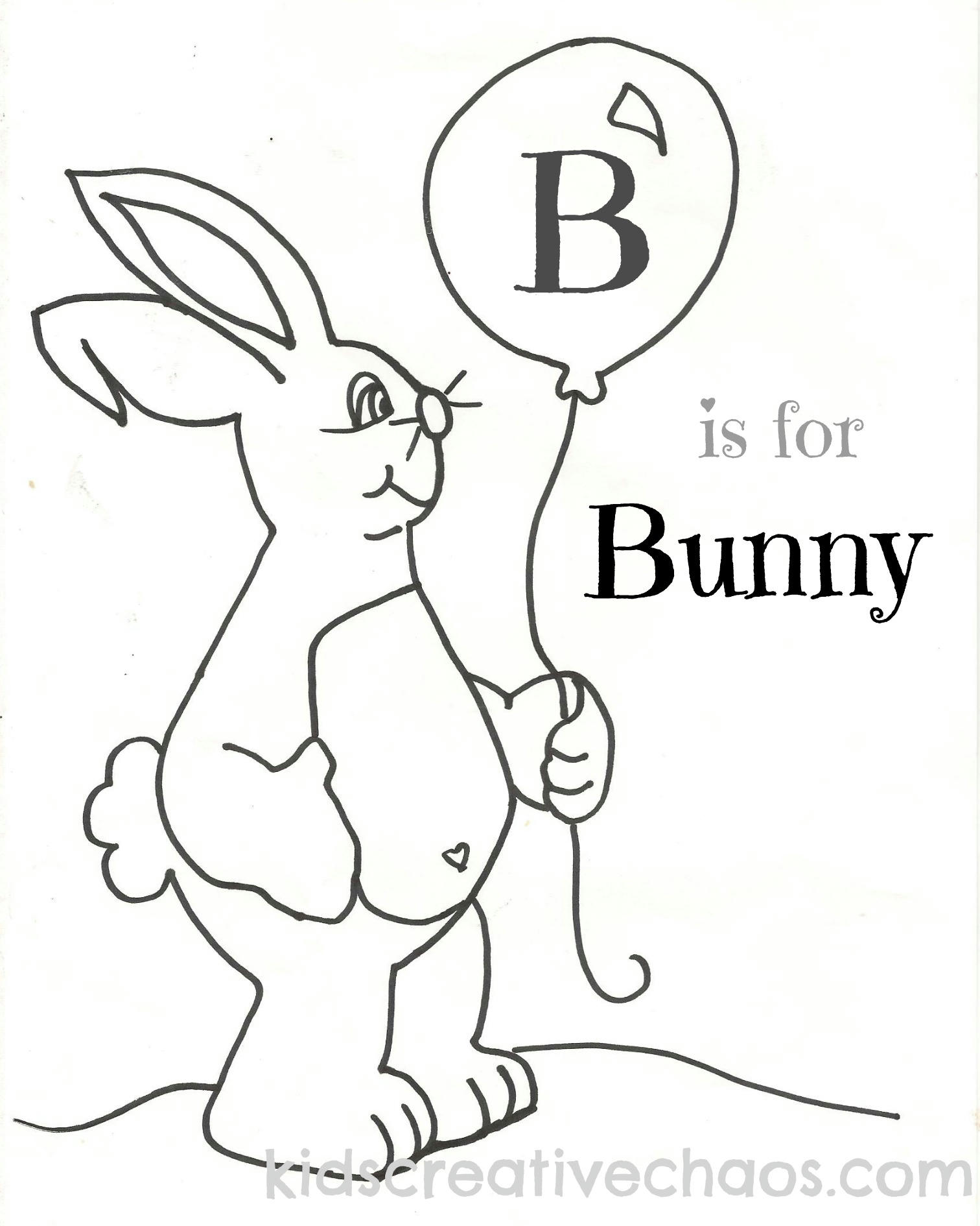 easter free printable coloring sheets baby bunny with balloon