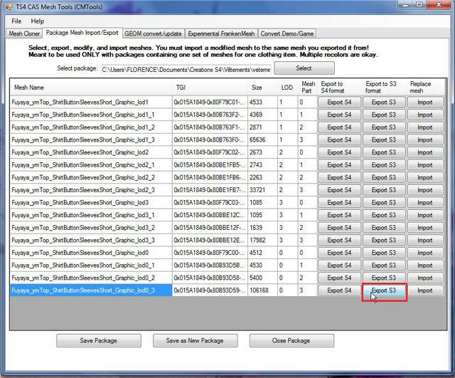 [Apprenti] TS4 Mesh Tools : Export et Import de fichier pour la modification de mesh Q3w9dkgbnox59agzg