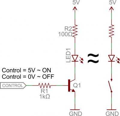 Mạch công tắc transistor