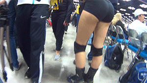 Cam Phone Volleyball Booty Gif