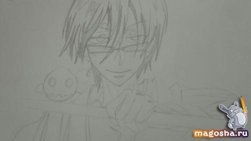 Рисунки для срисовки Цубаки слугу-вампира