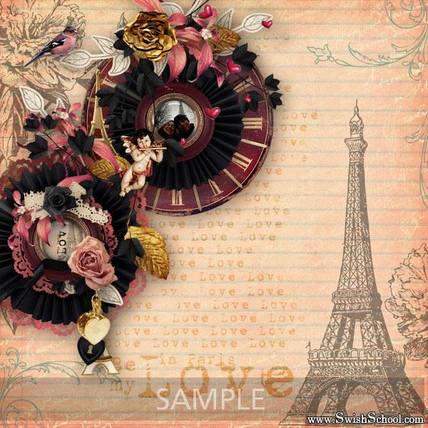 """سكرابز """"حب في باريس"""" psd ,قصاصات وخردة """"حب في باريس"""" متعدد الليرات 2015"""