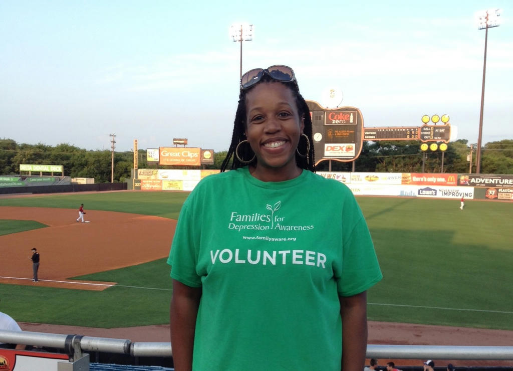 Event volunteer Valerie Cordero