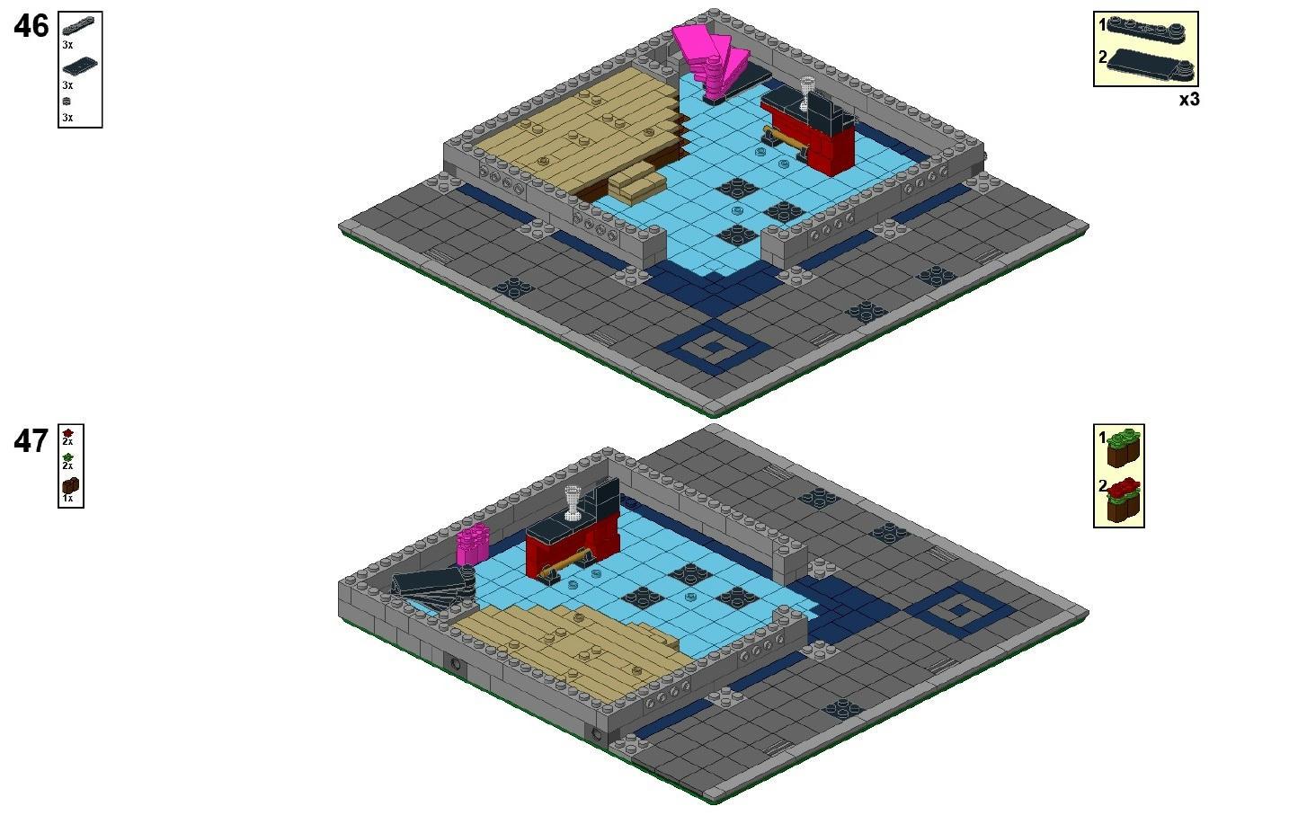 lego custom modular instructions