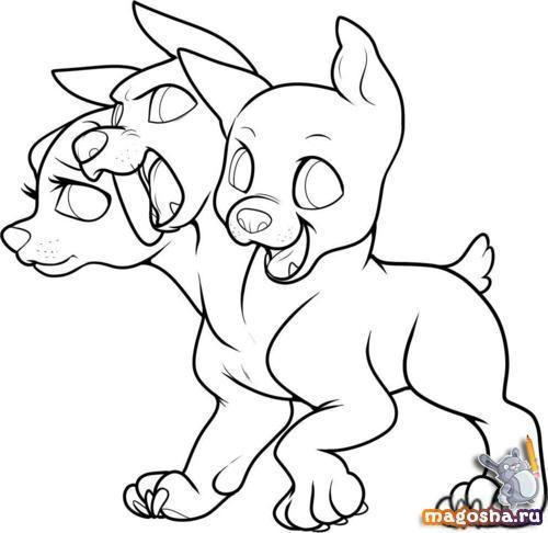 Как рисовать малышей церберов поэтапно