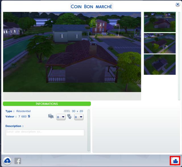 [Fiche] Importer un foyer, un terrain ou une pièce à l'aide du Sims4Importer. Khqdj7xnz1ruog3zg