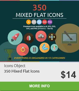 350 Mixed Flat Icons