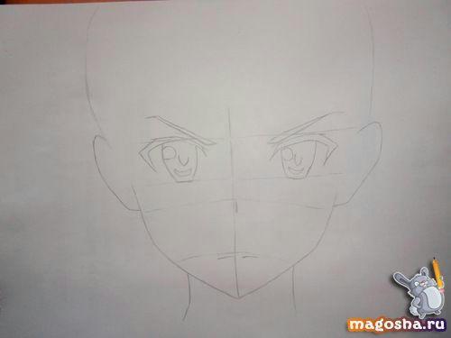 Рисуем поэтапно Kirito из Мастера меча онлайн