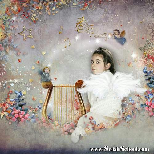 """سكرابز """"صوت الملاك"""" psd ,قصاصات وخردة """"صوت الملاك"""" متعدد الليرات 2015"""