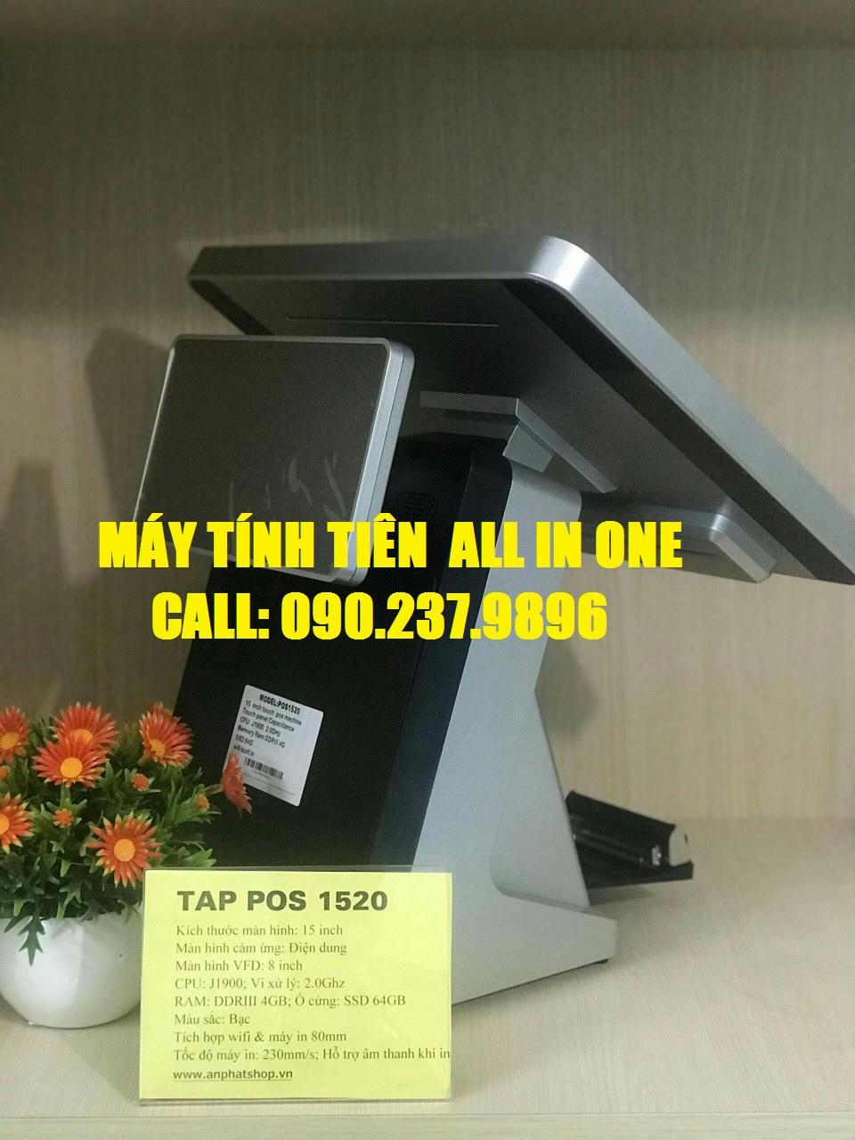 Bộ máy tính tiền hiện đại cho quán cafe tại Hóc Môn