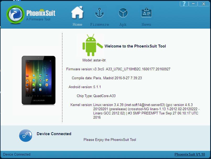 طلب فلاشة klipad smart I745