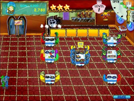 SpongeBob SquarePants Diner Dash ภาพตัวอย่าง 01