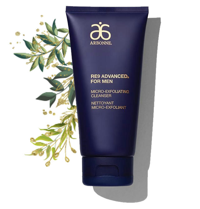 Introducing the new RE9 men micro exfoliating cleanser from the arbonne range