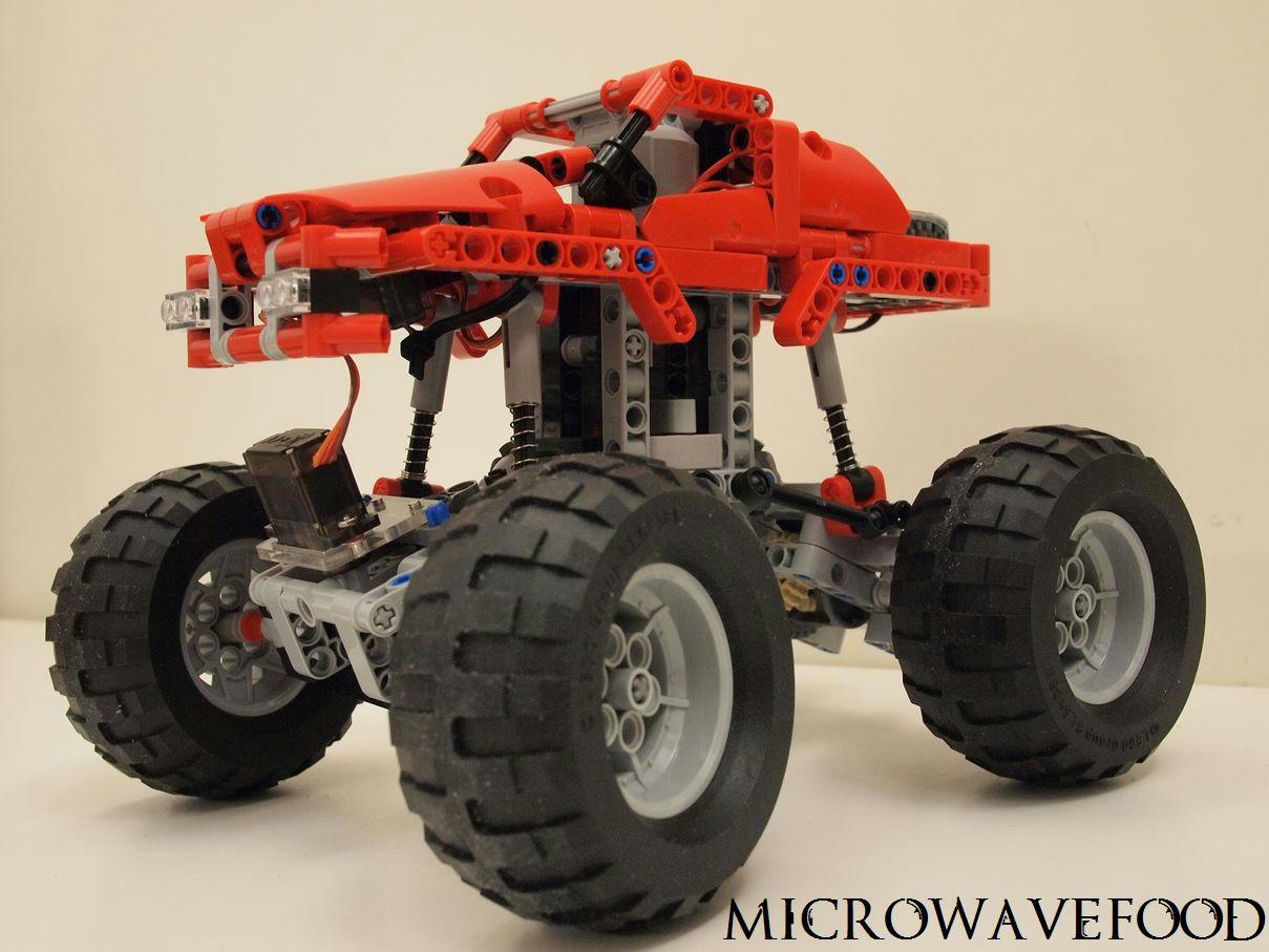 mod 42005 monster truck 2 4g rc conversion lego. Black Bedroom Furniture Sets. Home Design Ideas